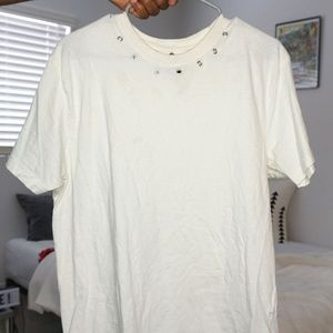 Night Addict T-shirt with Neck Ring Detail